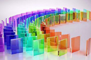 Kính màu trang trí văn phòng cho nhịp sống hiện đại