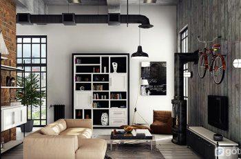 Mang cảm hứng thiết kế phong cách loft vào trong căn hộ chung cư