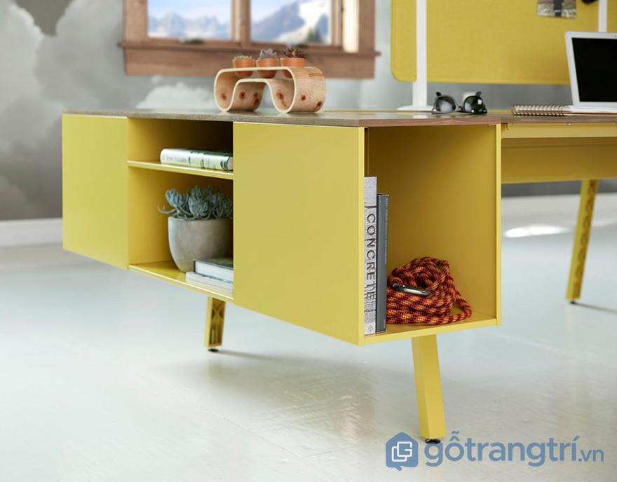 Màu vàng trong phong thủy bàn làm việc