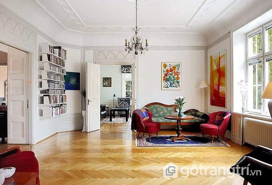 Art nouveau trong thiết kế nội thất rất sang trọng (Ảnh: Internet)