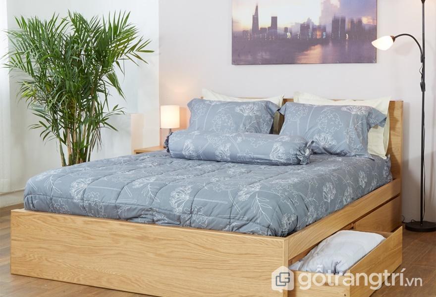 Nội thất gỗ veneer trong không gian phòng ngủ - ảnh internet
