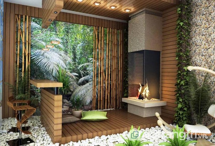 Đối với những bức tường theo phong cách Eco đều sử dụng những dòng vật liệu tự nhiên (Ảnh: Internet)
