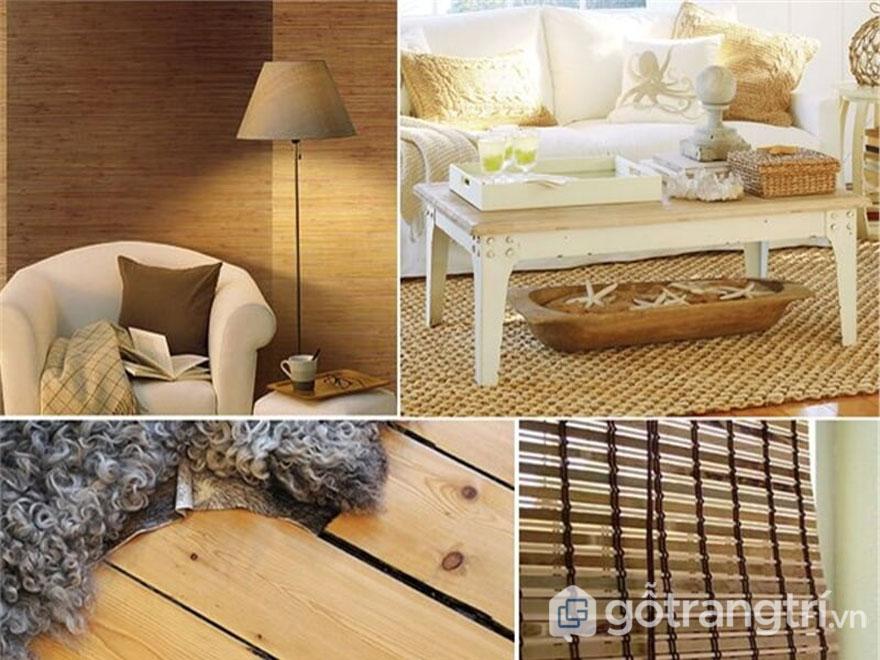 Hầu hết những đồ nội thất, hay phụ kiện trang trí đều được làm từ nguồn chất liệu tự nhiên, thân thiện với môi trường (Ảnh: Internet)