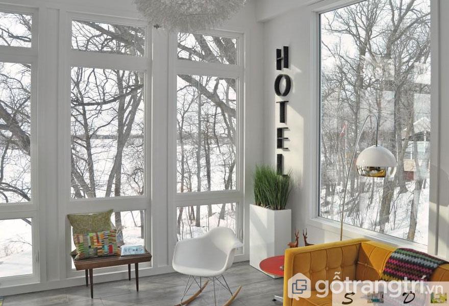 Để tạo ra một nội thất tự nhiên thuần khiết, thêm một chút màu xanh lá cây vào màu trắng (Ảnh: Internet)
