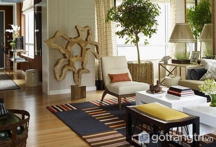 Sàn nhà nên ấm áp, làm bằng gỗ hoặc đá (Ảnh: Internet)