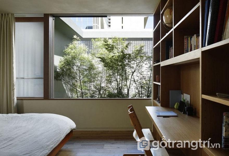 Phòng ngủ được trang trí theo phong cách nội thất Eco vô cùng cuốn hút, trang nhã (Ảnh: Internet)