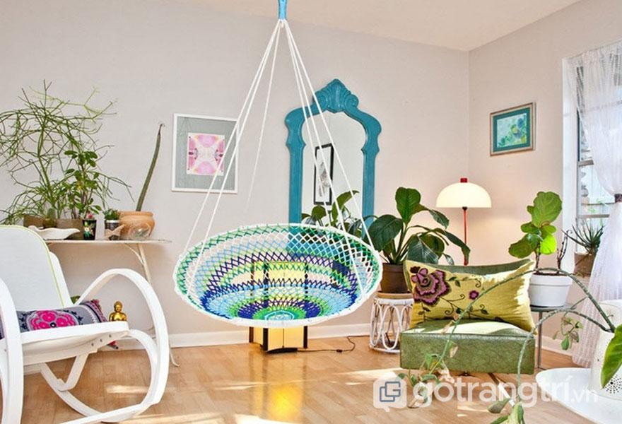 Phòng khách được bài trí đậm chất Eco (Ảnh: Internet)