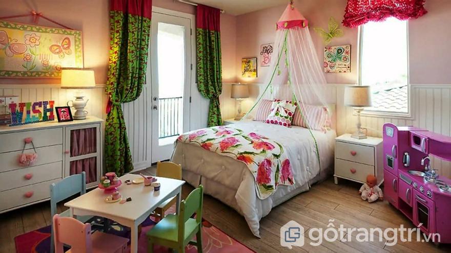 Phòng ngủ cho bé gái 10 tuổi độc đáo