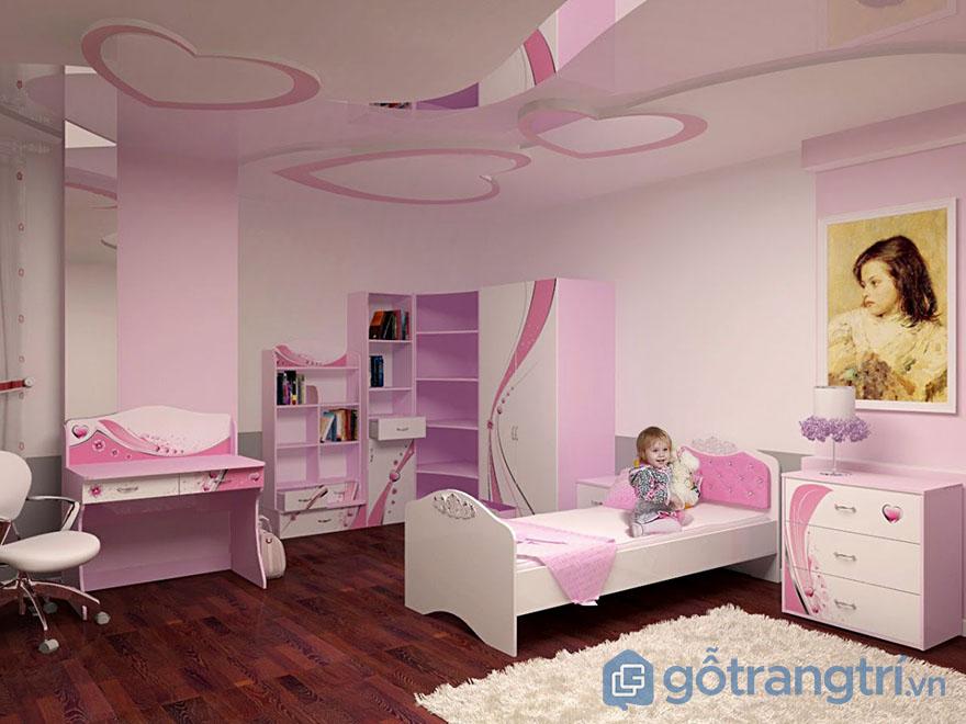 Phòng ngủ cho bé gái 10 tuổi ấn tượng