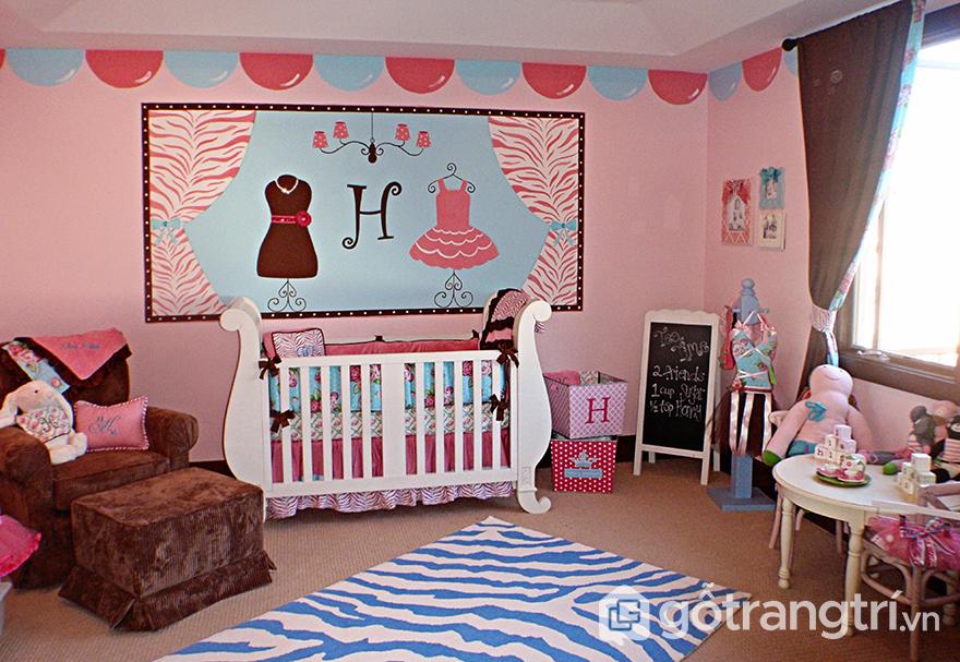 Phòng ngủ cho bé gái 10 tuổi ngot ngào