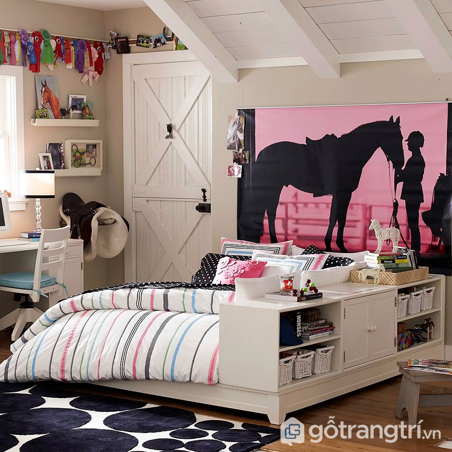 phòng ngủ bé gái 12 tuổi 01