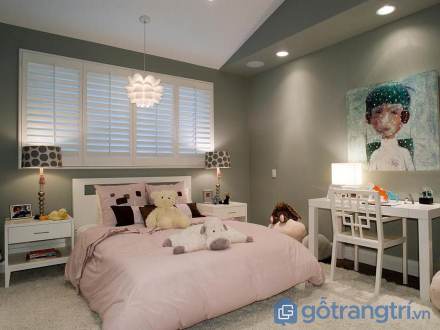 phòng ngủ cho bé gái 12 tuổi