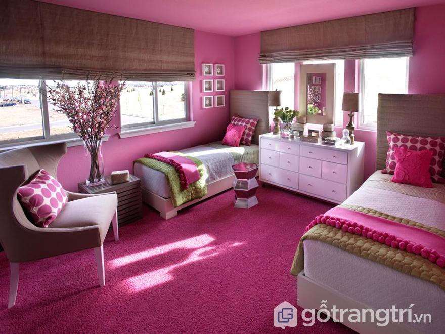 phòng ngủ bé gái 12 tuổi