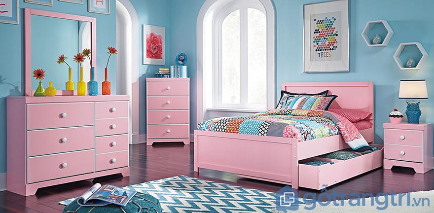 màu sắc phòng ngủ cho bé gái