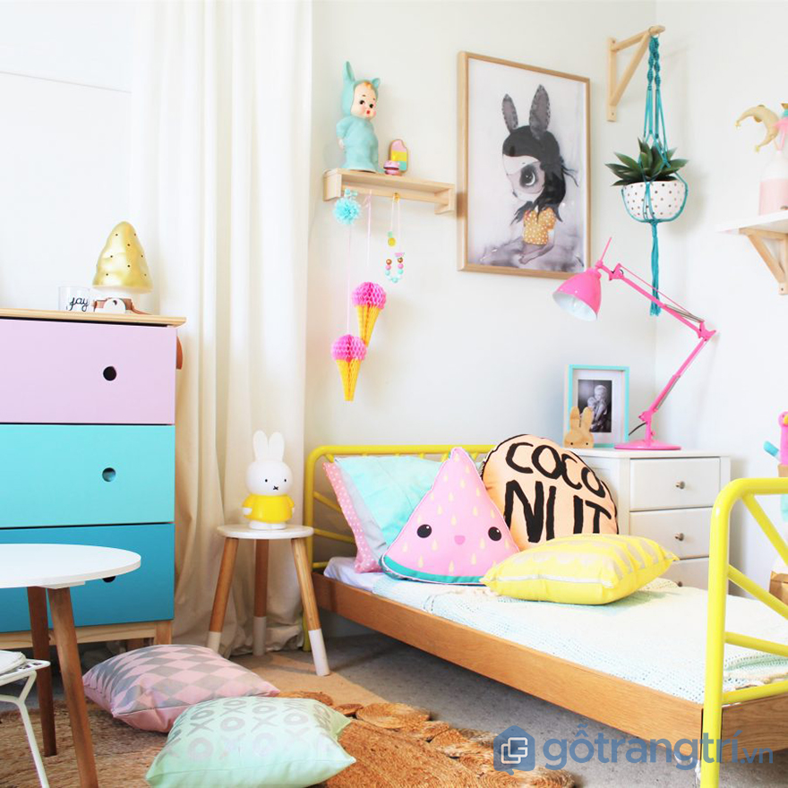 ý tưởng thiết kế phòng ngủ cho bé gái