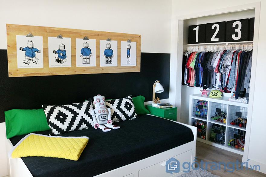 mẫu phòng ngủ cho bé trai 15 tuổi