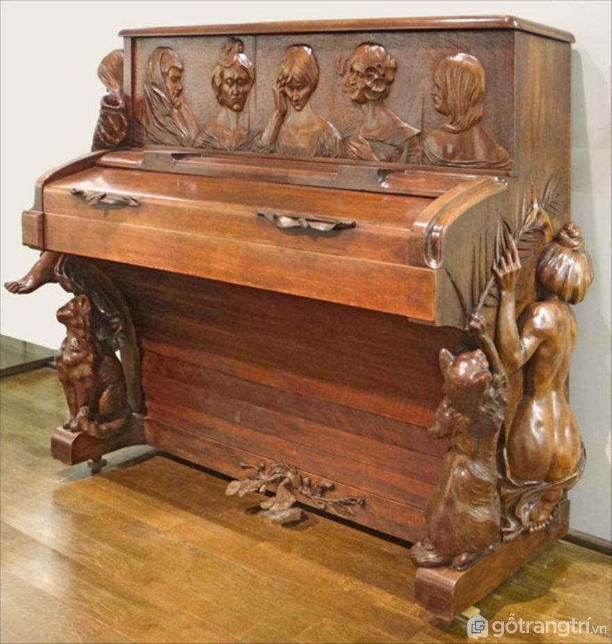 Đàn piano nghệ thuật Nouveau - Tác giả: Dalbera CC BY 3.0