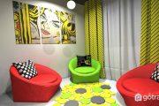 Ý tưởng trang trí tuyệt vời cho phòng khách nội thất Pop Art