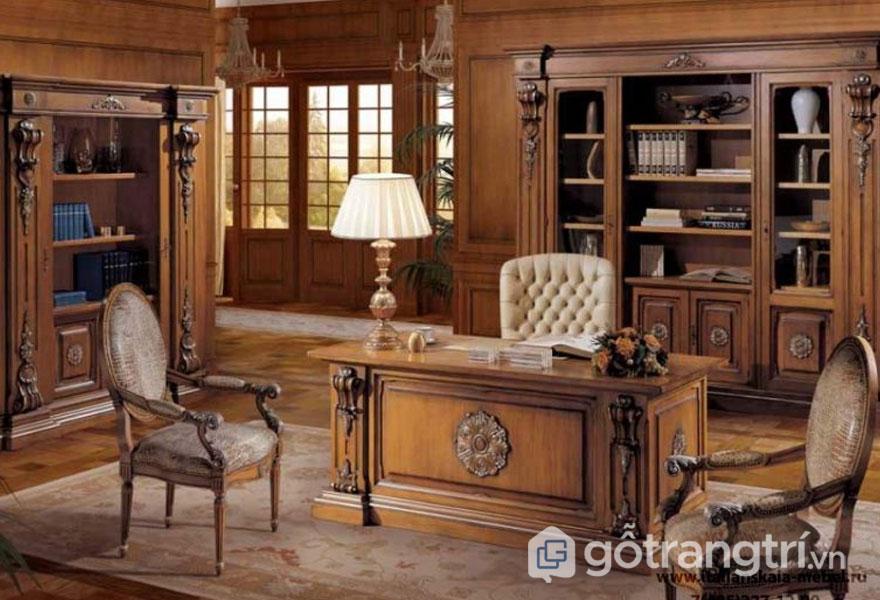 Thiết kế nội thất phong cách truyền thống nổi bật với hoa văn tinh tế (Ảnh: Internet)