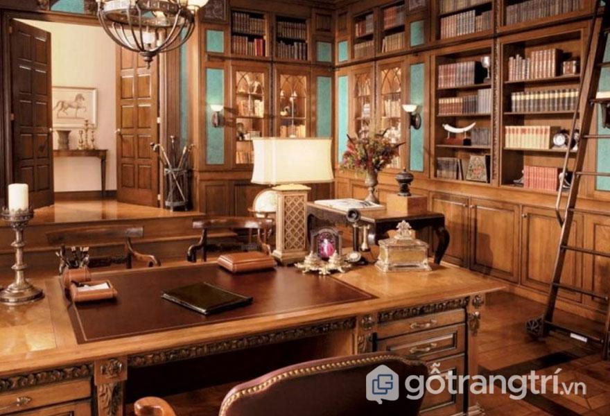 Văn phòng làm việc được thiết kế phong cách truyền thống (Ảnh: Internet)