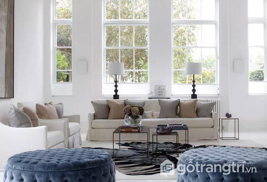 Chọn đồ nội thất có tính đối xứng (Ảnh: Internet)