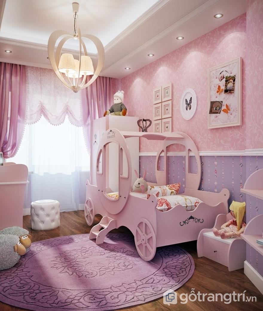Trang trí phòng ngủ cho bé gái thảm trải sàn