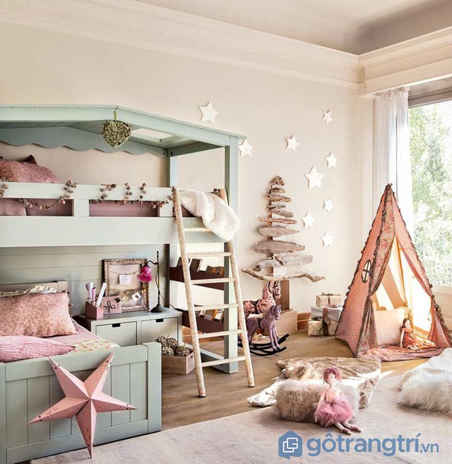 Trang trí phòng ngủ bé gái với đồ handmade