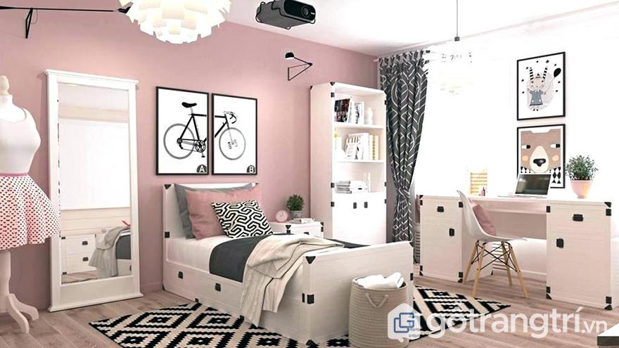 trang trí phòng ngủ cho bé gái ấn tượng