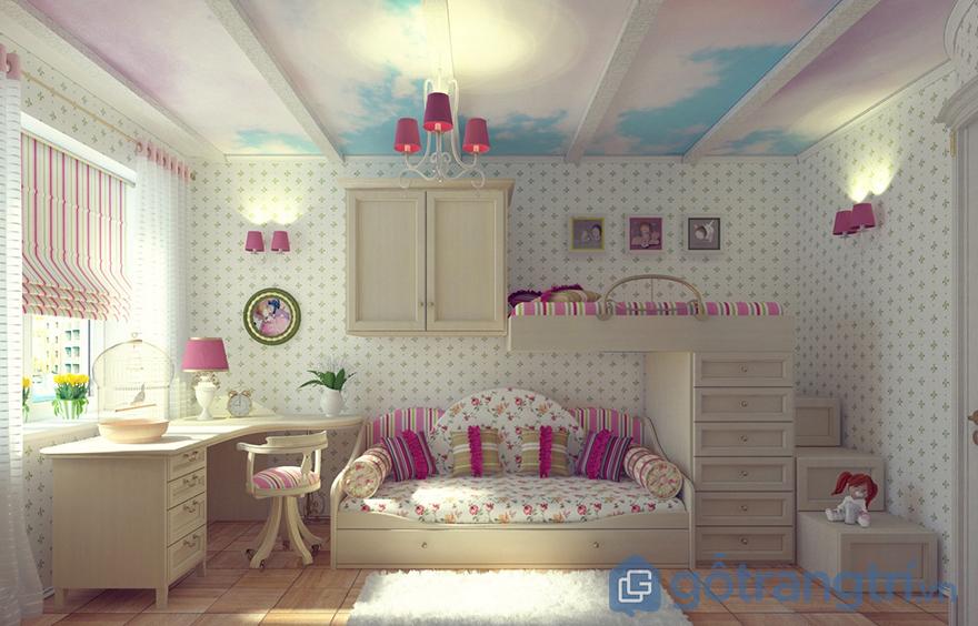 trang trí phòng ngủ cho bé gái đẹp