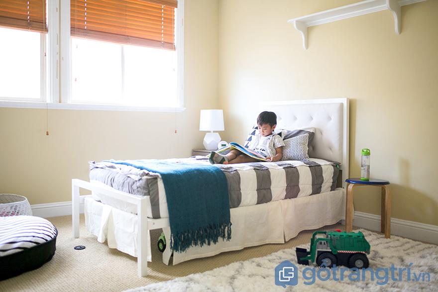 ánh sáng trong trang trí phòng ngủ bé trai