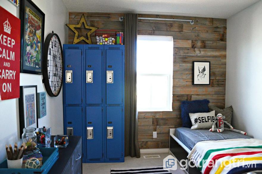 tạo điểm nhấn trong trang trí phòng ngủ bé trai