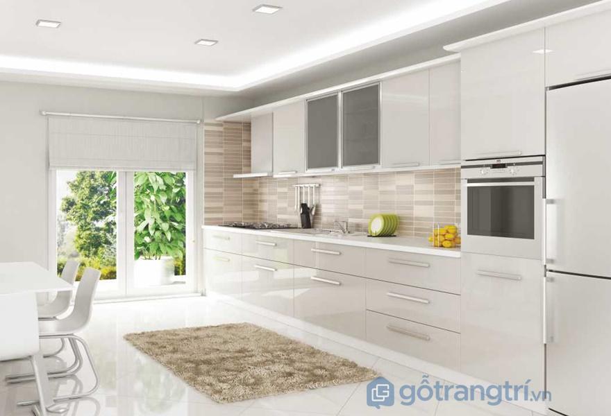 Không gian sạch sẽ, sáng sủa với nội thất acrylic bóng gương - ảnh internet