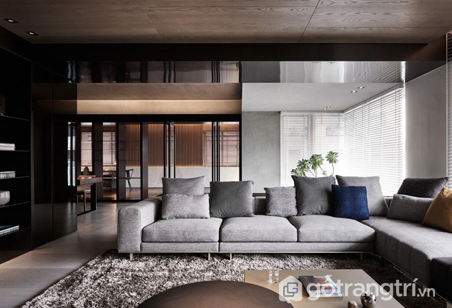 Không gian nội thất ứng dụng acrylic bóng gương trong thiết kế - ảnh internet