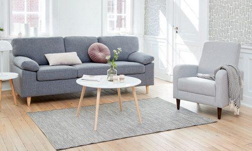 Ý tưởng trang trí phòng khách cực đỉnh với ghế sofa đơn nhỏ