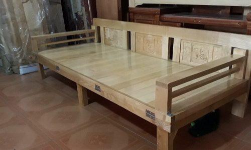Mãn nhãn trước vẻ sang trọng, tinh tế của ghế sofa giường bằng gỗ