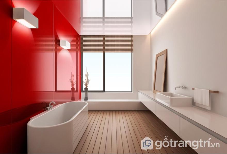 Bề mặt Acrylic màu đỏ - ảnh internet