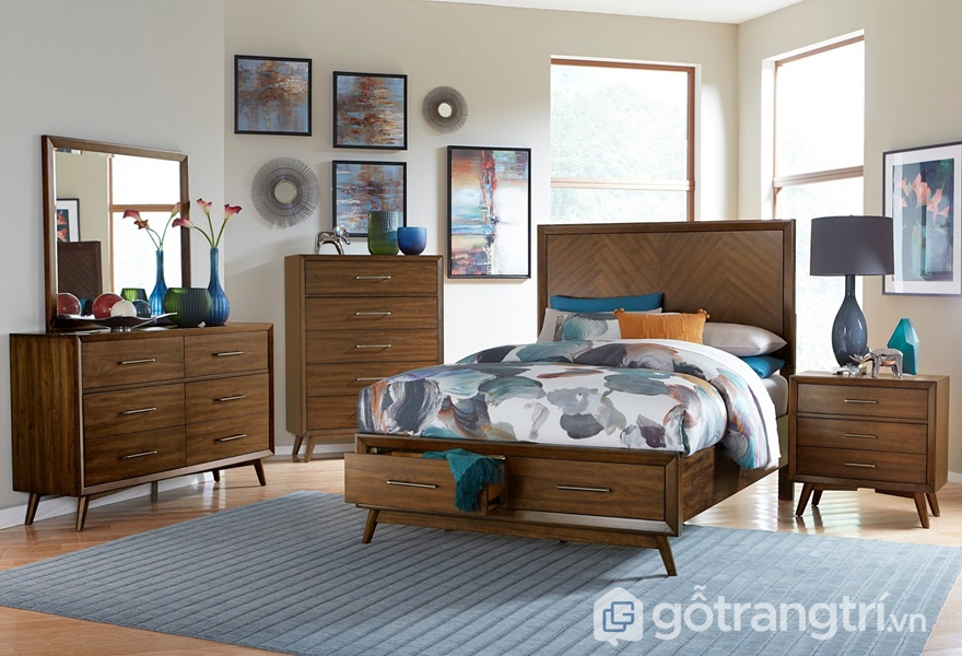 Ứng dụng bề mặt veneer trong thiết kế phòng ngủ - ảnh internet