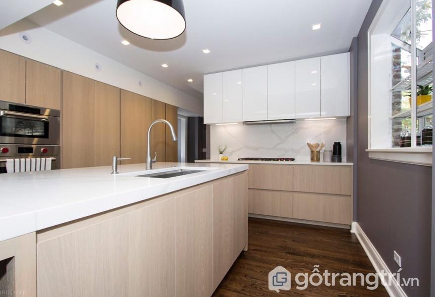 Ứng dụng bề mặt veneer trong thiết kế phòng bếp - ảnh internet