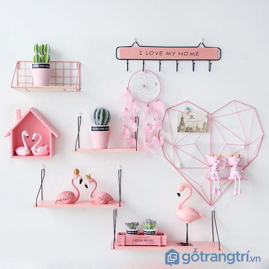 cách trang trí tường phòng ngủ bằng đồ handmade