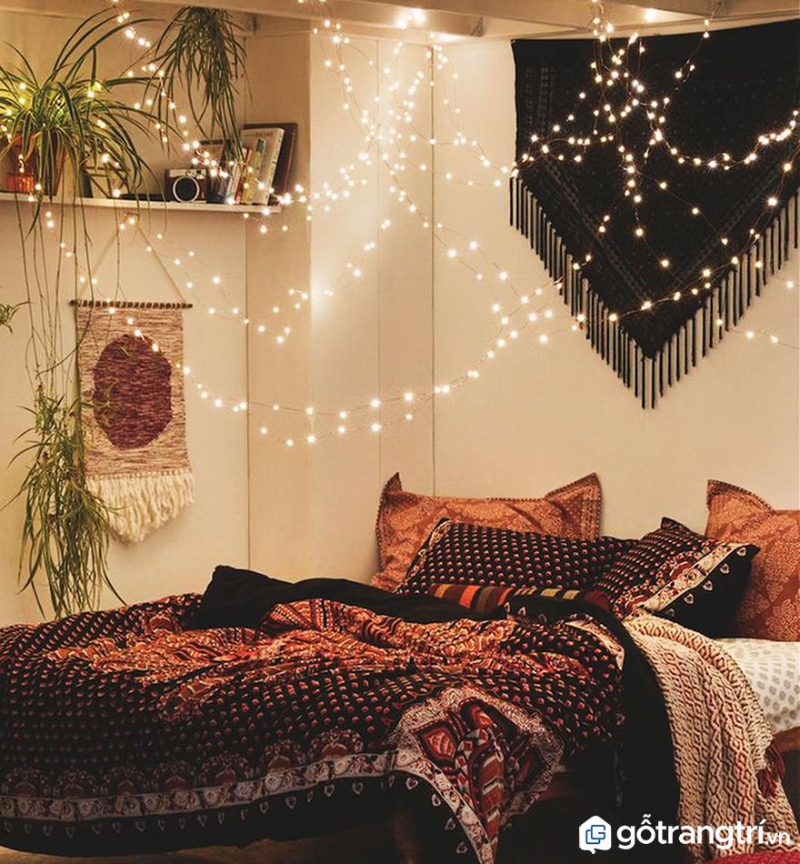 Đèn dây trang trí phòng ngủ