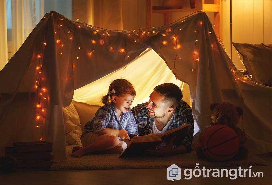 Đèn led trang trí phòng ngủ đẹp