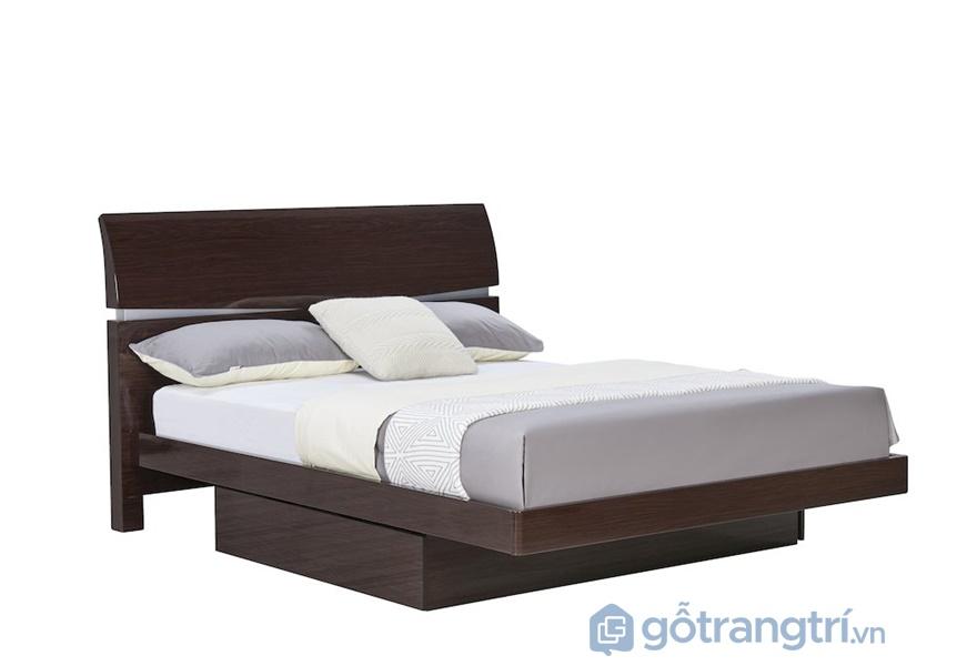 Giường ngủ gỗ dán veneer hiện đại - ảnh internet