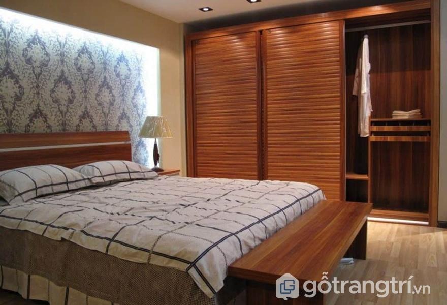 Ứng dụng gỗ dán veneer trong thiết kế nội thất phòng ngủ - ảnh internet