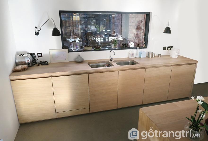 Gỗ veneer sồi trong thiết kế và trang trí phòng bếp - ảnh internet