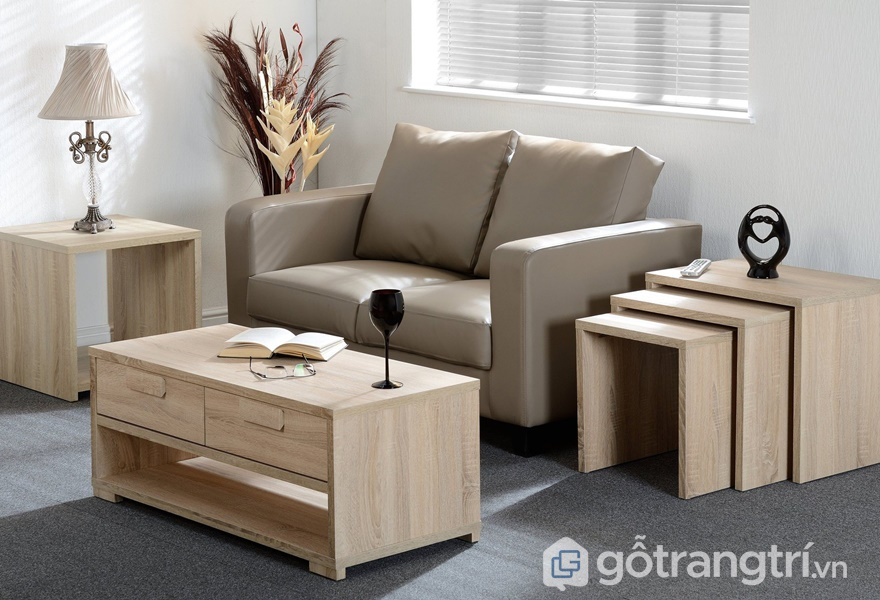 Bàn ghế gỗ veneer - ảnh internet