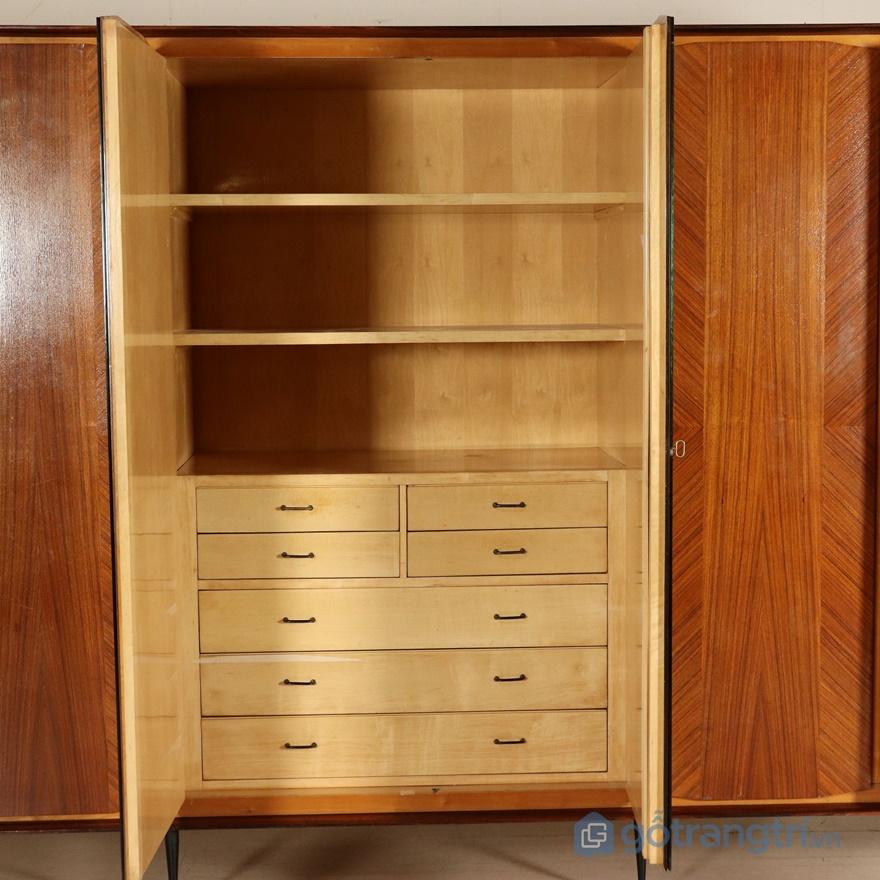 Tủ quần áo gỗ veneer - ảnh internet