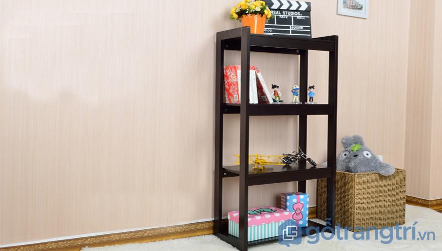 Kệ trang trí phòng ngủ gỗ tầng