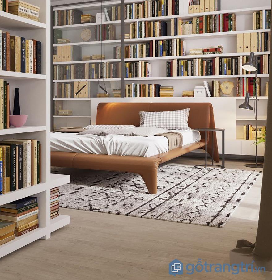 vai trò kệ trang trí phòng ngủ