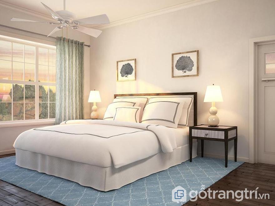 Màu sơn phòng ngủ vợ chồng đẹp thuần khiết