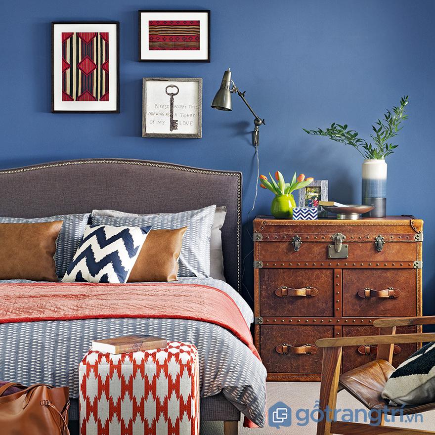 Màu sơn phòng ngủ vợ chồng xanh dương